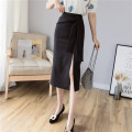 skirt Summer 2021 S M L XL XXL Black apricot Mid length dress commute High waist skirt Solid color Type H 25-29 years old More than 95% Yixiang Butterfly other zipper Korean version Other 100% Exclusive payment of tmall