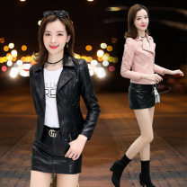 leather clothing Love of brother Hua Autumn of 2019 M,L,XL,XXL,XXXL Black, red, pink, order one also ship commute Hot money 8821 Sheepskin 25-29 years old