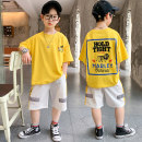 Leisure sports suit summer 120, 130, 140, 150, 160, 170 Yellow, purple, blue Short sleeve Other / other shorts teenagers T-shirt XX149 cotton 2021