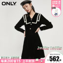 Dress Spring 2021 H1z black 155/76A/XS,160/80A/S,165/84A/M,170/88A/L,175/92A/XL Middle-skirt singleton  Long sleeves commute Admiral middle-waisted Solid color Socket other shirt sleeve Others 18-24 years old ONLY literature Beads, buttons other