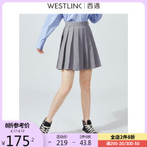 skirt Spring 2021 26 27 28 29 grey Short skirt commute High waist A-line skirt Solid color Type A 25-29 years old 71% (inclusive) - 80% (inclusive) Westlink / Xiyu polyester fiber zipper Korean version Polyester 75% viscose (viscose) 25% Same model in shopping mall (sold online and offline)