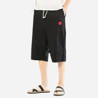 Casual pants Zuo Du Youth fashion black M L XL 2XL 3XL 4XL 5XL Pant Other leisure easy 021-TZ81B Viscose (viscose) 70% flax 30% Summer 2021