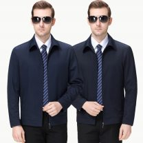 Jacket Oana  Youth fashion Dark blue, dark blue 170,175,180,185,190 thin Syncytial type Travel? Spring and Autumn Long sleeves Wear out Lapel Regular (50cm < length & 65cm) Regular sleeve Solid color Button decoration Mingji thread patch bag