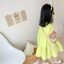 Parent child fashion Fruit green Women's dress female Other / other 90cm, 100cm, 110cm, 120cm, 130cm, 140cm, 150cm, mom's average size Fruit green baby skirt Cotton 100% 2, 3, 4, 5, 6, 7, 8, 9, 10 years old