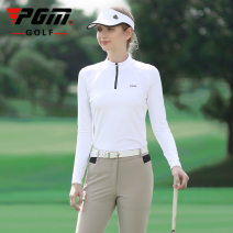 Sports T-shirt PGM S,M,L,XL Long sleeves female Hangtag * undetermined Lapel Payment * pending Yf338 women's stand collar Long Sleeve White, yf338 women's stand collar Long Sleeve Black Tight fitting nothing Sports & Leisure other