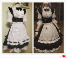 Cosplay women's wear suit Customized Over 14 years old black comic 50. M, s, XL, customized VMONLY Maid Dress Final fantasy series