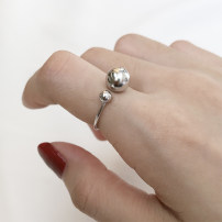Ring / ring Silver ornaments 51-100 yuan DEBY Round bead ring brand new goods in stock Japan and South Korea female Fresh out of the oven Not inlaid other R137 925 Silver Summer of 2018 yes Same model in shopping mall (sold online and offline)