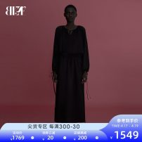 Dress Summer 2020 black 160/80A/S 165/84A/M 170/88A/L Mid length dress singleton  three quarter sleeve commute other Elastic waist Solid color Socket other other 25-29 years old Type X blue erdos Ol style Frenulum B205I4107 More than 95% other other Viscose (viscose) 100%