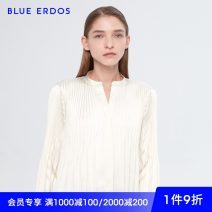 shirt 155/76A/XS 160/80A/S 165/84A/M 170/88A/L Autumn of 2019 polyester fiber 96% and above Long sleeves commute Regular other bishop sleeve other 25-29 years old High waist type blue erdos Ol style Bright silk Polyester 100% Same model in shopping mall (sold online and offline) man-made fiber