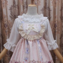 Lace / Chiffon Summer of 2019 White trumpet sleeve, black trumpet sleeve, white bubble sleeve, black bubble sleeve Average size elbow sleeve Sweet singleton  easy have cash less than that is registered in the accounts One word collar Solid color pagoda sleeve 18-24 years old Other / other Lolita