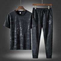 T-shirt Youth fashion routine M L XL 2XL 3XL 4XL 5XL 6XL 7XL 8XL TFU Short sleeve Crew neck easy daily summer MCJ Polyester 95% polyurethane elastic fiber (spandex) 5% youth Basic public Spring 2021 Fashion brand