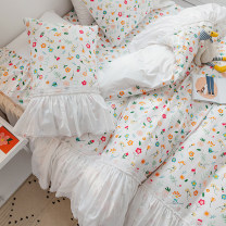 Bedding Set / four piece set / multi piece set cotton other Plants and flowers 133x72 Respect and love cotton 4 pieces 40 1.2m (4 ft) bed, 1.5m (5 ft) bed, 1.8m (6 ft) bed, 2.0m (6.6 ft) bed, 2.2m (7 ft) bed Bed sheet, bed skirt Qualified products Princess style 100% cotton twill Reactive Print