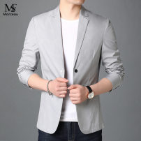Suit Youth fashion Others Grey, top green, dark green M/170,L/175,XL/180,2XL/185,3XL/190 thin Flat lapel No slits spring Self cultivation A double breasted button Other leisure youth 2021 Dot