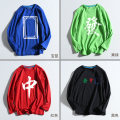 T-shirt Youth fashion Black, red, green, blue routine S,M,L,XL,2XL Qiqu clothing Long sleeves Crew neck standard daily Four seasons fdasfasg23465242 Cotton 100% teenagers routine tide Cotton wool 2021 other printing cotton Chinese culture tto  Fashion brand More than 95%