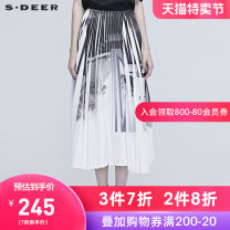 skirt Winter of 2019 S/160 M/165 L/170 XL/175 White / 90 longuette Natural waist A-line skirt other Type A 25-29 years old More than 95% s.deer polyester fiber Polyester 100% Same model in shopping mall (sold online and offline)