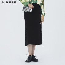 skirt Winter 2020 S/160 M/165 L/170 XL/175 Black / 91 longuette commute Natural waist other Type A 25-29 years old 81% (inclusive) - 90% (inclusive) s.deer acrylic fibres Ol style Same model in shopping mall (sold online and offline)