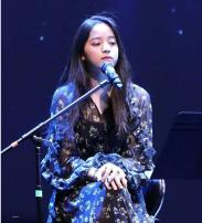 Dress Spring of 2019 S, M singleton  Long sleeves Sweet High waist Cake skirt Flying sleeve solar system