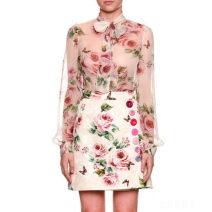 skirt Summer 2021 36/M Decor Short skirt High waist A-line skirt Big flower 25-29 years old More than 95% Other / other printing 121g / m ^ 2 (including) - 140g / m ^ 2 (including)