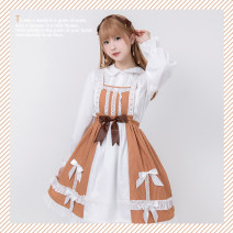 Lolita / soft girl / dress Doughnut doughnut Ginger  S size (below 60kg), M size (above 60kg), headdress (provided by handmaid) Unlimited seasons, spring and Autumn goods in stock Lolita, soft girl, light girl