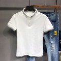 Polo shirt Other / other Business gentleman routine White, black Self cultivation go to work summer Short sleeve Business Casual routine youth Cotton 95% polyurethane elastic fiber (spandex) 5% 2019 Solid color cotton washing 90% (inclusive) - 95% (inclusive)
