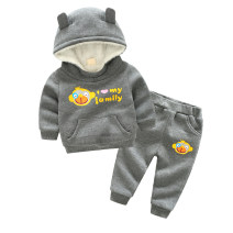 suit Other / other male winter leisure time Long sleeve + pants 2 pieces Plush No model Socket No detachable cap Cartoon animation Cotton blended fabric children Giving presents at school Class B Other 100%