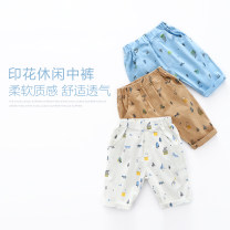 trousers Other / other male summer leisure time No model Casual pants Leather belt middle-waisted cotton Don't open the crotch Other 100% Class B