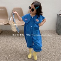 trousers Other / other neutral summer Ninth pants Korean version Official pictures Casual pants Leather belt cotton Don't open the crotch 4455 7 years old, 3 years old, 6 years old, 18 months old, 2 years old, 5 years old, 4 years old Chinese Mainland blue 90cm,100cm,110cm,120cm,130cm