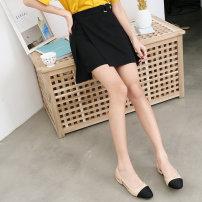 skirt Spring 2021 S,M,L Black, apricot Short skirt commute High waist Irregular Solid color Type A 18-24 years old Korean version