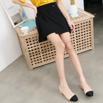 skirt Spring 2021 S,M,L Black, apricot Short skirt commute High waist Irregular Solid color Type A 18-24 years old Korean version