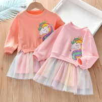 Dress female Beibei umbrella 90cm,100cm,110cm,120cm,130cm Other 100% spring and autumn Korean version Long sleeves Cartoon animation cotton A-line skirt Class B 18 months, 2 years old, 3 years old, 4 years old, 5 years old, 6 years old Chinese Mainland Guangdong Province Foshan City