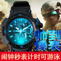 Wristwatch Plexiglass mirror Resin other 54mm Shop warranty Senja male Electronic movement domestic 5ATM The 18.5 mm movement Circular Double explicit brand new XJ - 872 - z Buckle ordinary Dial Spring Summer 2017 24-hour indication chronograph alarm clock luminous day display month display