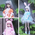 Doll / accessories parts 3 years old, 4 years old, 5 years old, 6 years old, 7 years old, 8 years old, 9 years old, 10 years old, 11 years old, 13 years old, 14 years old and above Kor doll China Below 30 cm Light pink white light green violet orange pink sky blue currency A6467