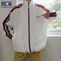 Jacket Other / other Youth fashion M,L,XL,2XL routine easy Other leisure spring Polyester 100% Long sleeves Wear out stand collar tide youth short Zipper placket 2019 Rib hem No iron treatment Closing sleeve other Seldingham printing Side seam pocket polyester fiber 30% (inclusive) - 49% (inclusive)
