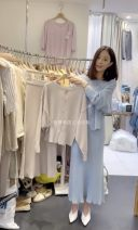 Fashion suit Spring 2021 Average size Beige top, blue top, beige skirt, blue skirt 25-35 years old 3.23MU i