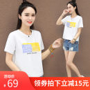 T-shirt M,L,XL Summer 2020 Short sleeve Crew neck easy have cash less than that is registered in the accounts routine commute cotton 96% and above 25-29 years old Korean version youth 3D, stitching, embroidery
