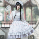 Lolita / soft girl / dress MILU ORIG Full white and gray jsk L,M,S No season goods in stock Chinese style, classical, Lolita