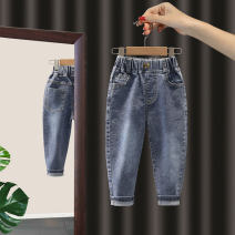 trousers Deer bend female 90cm,100cm,110cm,120cm,130cm blue spring and autumn trousers leisure time No model Jeans Leather belt middle-waisted Denim Don't open the crotch Class B 2 years old, 3 years old, 4 years old, 5 years old, 6 years old, 7 years old Chinese Mainland Zhejiang Province