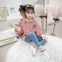 suit Bobo goose Red and black female spring and autumn Korean version Long sleeve + pants 2 pieces routine There are models in the real shooting Socket No detachable cap Solid color C047 Class B Spring of 2019