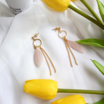 Ear Studs Feather RMB 1.00-9.99 Other / other A pair of earrings and a pair of ear clips brand new Japan and South Korea female goods in stock Fresh out of the oven Not inlaid other A-227