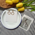 Ear Studs Alloy / silver / gold RMB 1.00-9.99 Other / other Gold and silver brand new Japan and South Korea female goods in stock Fresh out of the oven Not inlaid other A-125