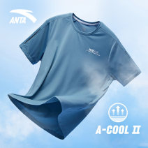 Sports T-shirt Anta Short sleeve male Crew neck routine Spring 2021 Brand logo Sports & Leisure Men's outdoor polyester fiber yes