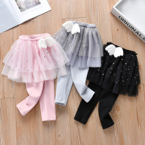 trousers Anemora / Eni Mengmeng female 90cm,100cm,110cm,120cm,130cm Black, gray, pink spring and autumn trousers Korean version No model Leggings Leather belt middle-waisted cotton Don't open the crotch Cotton 90% other 10% Class B Chinese Mainland Guangdong Province Foshan City