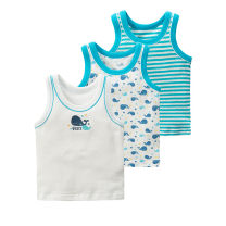 Vest sling Sleeveless summer other neutral No model in real shooting Dot Crew neck Pure cotton (95% and above) Cotton 100% Class A 10 years old, 9 years old, 8 years old, 7 years old, 6 years old, 5 years old, 4 years old, 3 years old, 2 years old, 12 months old 3pk boys' mesh whale vest