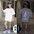 T-shirt Spring 2021 Long sleeves Crew neck easy Medium length routine Sweet cotton 96% and above Under 17 originality letter Other / other cv60 printing princess