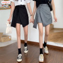 skirt Winter 2020 S M L Gray black black and white check Short skirt commute High waist Irregular Solid color Type A 18-24 years old BSBY20201229T10 More than 95% other Basabai other Lace up asymmetric zipper stitching Korean version Other 100% Pure e-commerce (online only)