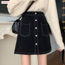 skirt Autumn 2020 S M L Black grey Short skirt commute High waist A-line skirt Solid color Type A 18-24 years old BSBY20200816T07 More than 95% other Basabai other Pocket button, zipper, decorative stitching Korean version Other 100% Exclusive payment of tmall