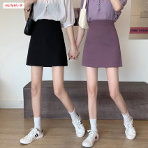 skirt Summer 2020 S M L Black taro purple Short skirt commute High waist A-line skirt Solid color Type A 18-24 years old BSBY20200427T08 More than 95% other Basabai polyester fiber Zipper stitching Korean version Polyester 100% Pure e-commerce (online only)