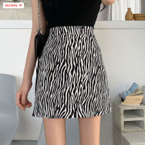 skirt Spring 2021 S M L XL Zebra pattern Short skirt commute High waist A-line skirt Zebra pattern Type A 18-24 years old More than 95% other Basabai other Zipper stitching printing Korean version Other 100% Pure e-commerce (online only)
