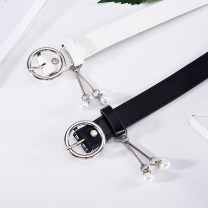 Belt / belt / chain Pu (artificial leather) female belt leisure time Single loop Pin buckle other Patent leather 2.2cm alloy Wet beauty SM-8255 Spring / summer 2018