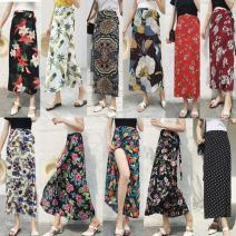 skirt Spring 2021 longuette Versatile Irregular High waist 91% (inclusive) - 95% (inclusive) polyester fiber Chiffon One size fits all